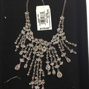 Jewelry - Elegant Crystal Chandelier Necklace. Never worn.